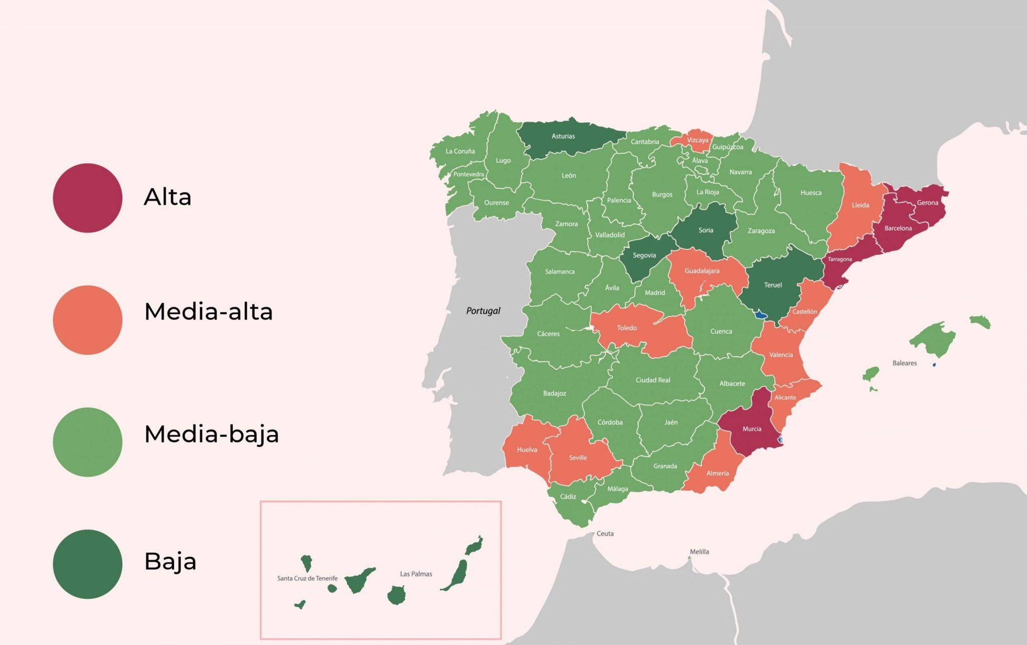 mapa estadisticas robo espana